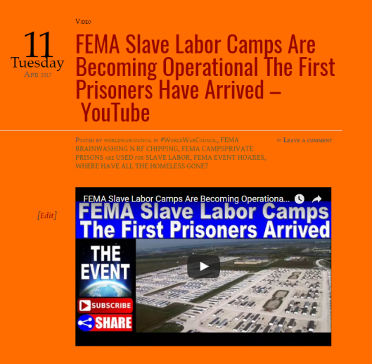 FEMA Slave Labor Camps Are Becoming Operational The First Prisoners Have Arrived – YouTube